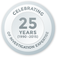 25 years of private investigation expertise